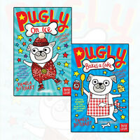 Pamela Butchart Pugly Collection 2 Books Set Pugly On Ice,Pugly Bakes a Cake NEW