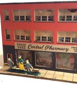 Lot 2 HO Scale Vintage Cardboard Kit Building  - Pharmacy And 5&10 Model Train