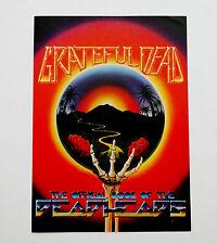 Grateful Dead Handbill 1983 The Official Book of the Deadheads Art Flyer Poster