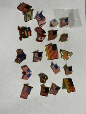 Lqqk, Vintage To Current American Flag And Other Country Lapel Pin
