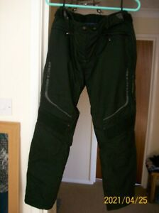 Ladies Richa Touring Motorbike Trousers Black Sz 12 Immaculate Worn Once