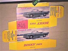 Réplique boite PEUGEOT 404 CABRIOLET DINKY TOYS 1966