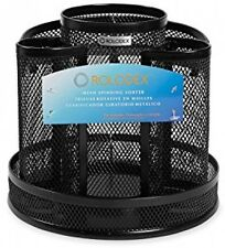 Black Spinning Mesh Desk Organizer Storage Office Home Supplies Pens Pencils