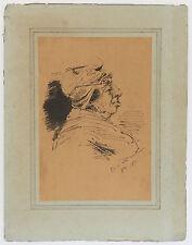 """ENCRE """"FETE DE MA CONCIERGE"""" 7 octobre1876 DANS LE GOUT D'HENRY MONNIER"""
