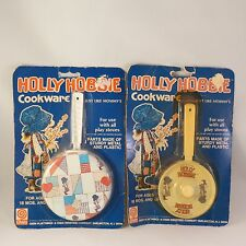 Vintage 1970's Holly Hobbie NOS Metal Tin Toy Pots & Pans New In Sealed Package