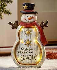 Christmas Outdoor LED Lighted Snowman Decoration Holiday Yard Lawn Xmas Decor