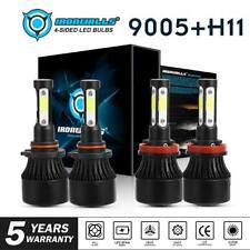 4 Sides 9005 H11 LED Headlight High Low Beam for Honda Accord 08-17 CR-V 15-2018