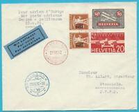 Suiza Aire de Correo Carta por Aéreo 1932 IN El Aufgegeben Dependiendo Estocolmo