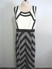 CITY CHIC Evening DRESS Sz 18 Black White Full Length Work Corporate Cocktail