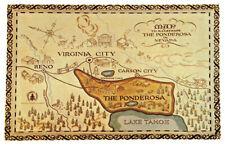 BONANZA *PONDEROSA MAP* POSTER *TV SHOW*