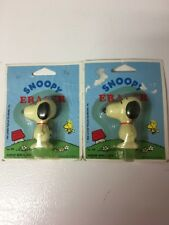 Vintage 1966 Peanuts Snoopy Eraser Empire Lot of 2 New old Stock