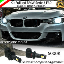 KIT LED H7 BMW SERIE 3 F30 6000K XENON NO AVARIA ANABBAGLIANTI 6400 LUMEN