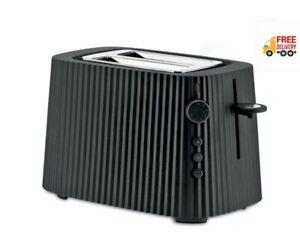 ALESSI Plisse Toaster, Black - Free Delivery