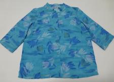 Blair Shirt Womens Size LP Blue Floral Button Down Shirt New
