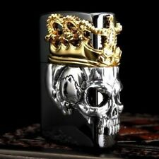 Zippo Skull King Black & Gold Collectible Beautiful lighter Cool Japan F/S New