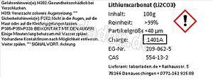 [100-1000g] Lithiumcarbonat  (Li2CO3)