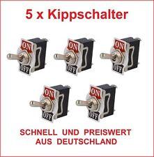 5x Kippschalter 12 V 24 V 230 V 220 V Volt 10 A Kipp Wipp Schalter KFZ LKW Neu