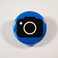"CAMERA PHOTOGRAPHY DSLR Badge/Button GIFT with METAL PIN ( Size is 1"" / 25mm)"