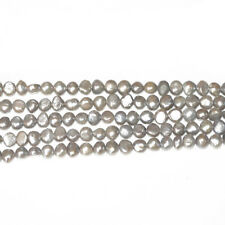 Strand 55+ Silver/Grey Freshwater Pearl 6-7mm Baroque Potato Beads FP1678-3