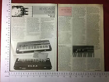 Elka X-50 electronic organ magazine vintage article November 1982