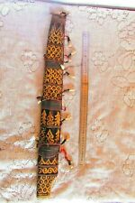 Vintage Sword Wooden Medieval Cover sword African Sheath, Animal Teeth Decorated