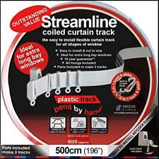 Streamline 500cm Pvc Curtain Track, Easy Bend With Hand, For All Types Windows