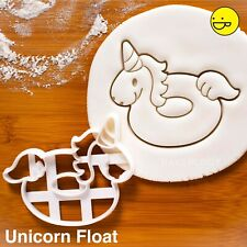 Unicorn Float cookie cutter - nautical donut ring swimming pool party Hawaiian