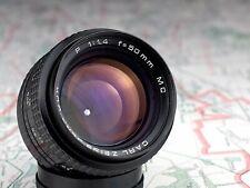 PRAKTICAR / PANCOLAR 1.4/50 MC PB mount lens CARL ZEISS JENA DDR