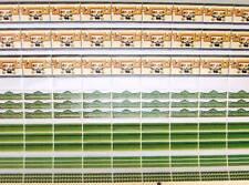 36,35EUR//M² Papier Tapetten für Puppenhaus 1:12 Weiß grüne Muster 32x30cm
