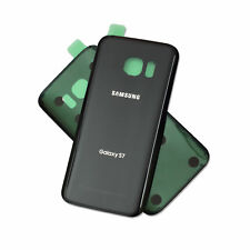 BLACK Battery Back Door  Glass Cover Replacement For Samsung Galaxy S7 G930 NY