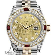 da donna 18k oro rolex 26mm Datejust champagne Jubilee quadrante