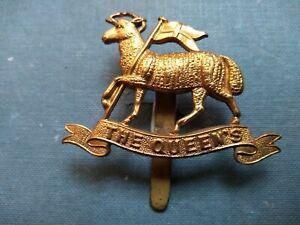 #192 – THE QUEENS ROYAL WEST SURREY REGIMENT ALL BRASS CAP BADGE