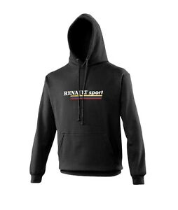 Black RENAULT SPORT Hoodie Top Size L Large NEW