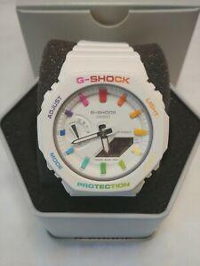 Custom Rainbow Mini CasiOak Casio G-Shock Full Bezel GMA-S2100-7A