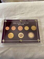 2002 Euro Coin Set Belgium In Capital Holder