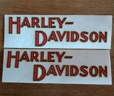 2 Large Old  School Harley Davidson Tank Decals