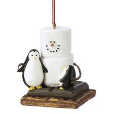 S'mores Penguin Friends Bird Resin Ornament New