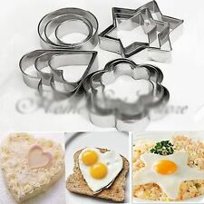 Hot 12pcs Stainless Steel Cookie Cake DIY Snacks Mold Fruit Cutter Shape Hot