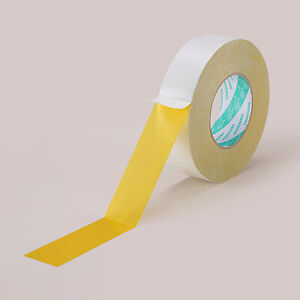 50m Strong Yellow Oily Double-Sided Tape Rolls Manual Craft DIY Self Adhesive
