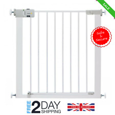 Metal Stair Gate Door No Drill Safety Barrier Fence Baby Toddler Pet Child Room