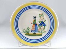 Teller Nr.2, Fayence/ Keramik, Henriot Quimper, France, XIX Jh.