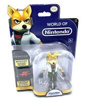 World of Nintendo : Figurine Starfox / Starwing 10 cm + accessoires - Neuf