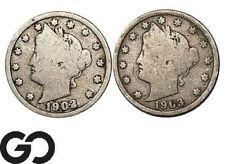 1902 & 1903 Liberty Nickel, V Nickel