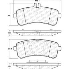 Disc Brake Pad Set Rear Centric 104.16690