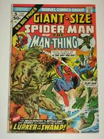 Giant-Size Spider-man #5, FN/VF. 7.0, Man-Thing, Lizard