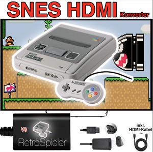 SNES Full HD Kit HDMI Konverter Super Nintendo Verlängerung Kabel Adapter V3