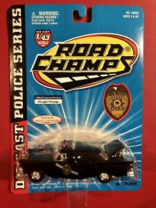 1/43 ROAD CHAMPS 1957 FORD NEW MEXICO STATE POLICE VINTAGE SERIES BLACK