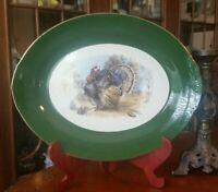 "Vintage Homer Laughlin Turkey Platter Green Border HUGE 16"""