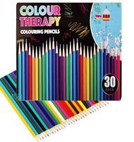 30 Colouring Pencils  Artists Quality Colour Therapy in Tin Coloured