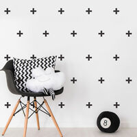 100 Cross Plus Sign Individual Wall Stickers Childrens Bedroom Decal